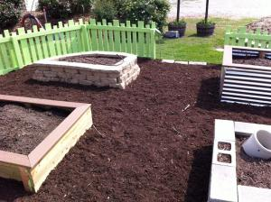 Examples of raised beds in the Eagle's Nest.